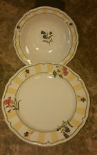 Noritake Homecraft Serving Bowl And Plate Mint 9212