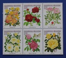 Marshall Islands (#729) 2000 Garden Roses MNH block of 6