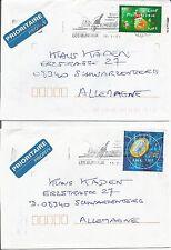 France  2001 Ariane 5 Les Mureaux Rocket Launch Vehicle Space Telecoms Cover x 2