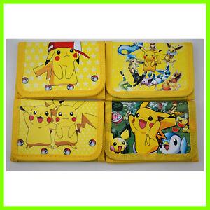 2 pcs Pokemon Pikachu Kids Boys Various Stocking Filler Wallet Purse Coins Bag
