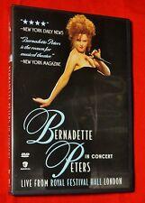 Like New RARE OOP Bernadette Peters Concert DVD LIVE Royal Festival Hall London