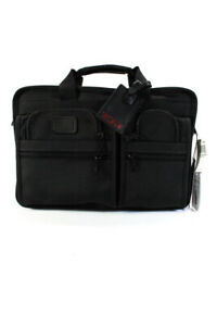 Tumi Mens Large Black Nylon Briefcase Bag