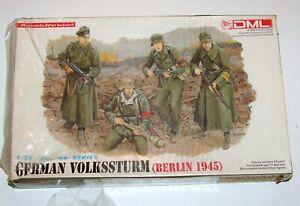 German Volkssturm Berlin 1945 Figures 1:35 Model Kit Sealed DML