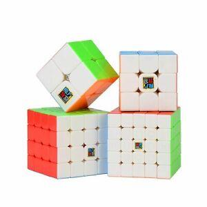 QIYI Cubes   2x2 3x3 4x4 5x5 Stickerless Bright Magic Cubes Uk Seller