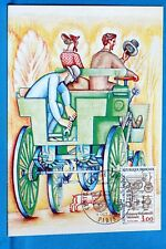 CENTENNIAL OF THE CAR FRANCE CPA Postcard Maximum Yt 2341 C