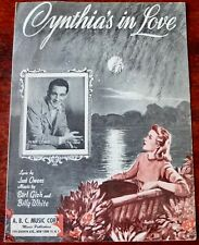 PERRY COMO CYNTHIA'S IN LOVE SHEET MUSIC (1942) USA OWENS GISH WHITE