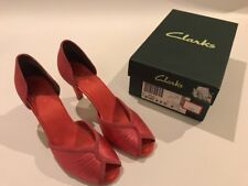 Ladies Clarks Caruso Got Pink satin and suede court shoes UK Size 4 D EUR 37