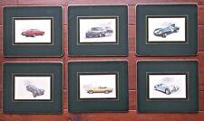 Jaguar 6 Place Mat Set XK120 XKE SS-100 D-Type XJS-4 Litre XJS TWR Race Car