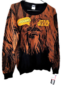 Star Wars Boys' X Large Brown Chewbacca Sweater NWT With Sound