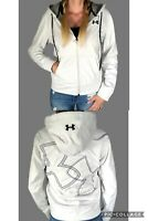Under Armour ColdGear Full Zip Fleece Lined Jacket Logo White Hoodie S M L XL