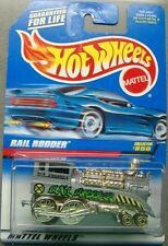 Hot Wheels 1997 Diecast Coll # 850 RAIL RODDER Grey with Yellow Chrome Trim