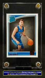Luka Doncic 2018 Donruss Rated Rookie NBA Card w/ Free 4Screw Case