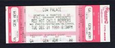 1991 Red Hot Chili Peppers Nirvana Pearl Jam Unused Concert Ticket Bill Graham