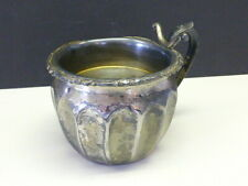 Antique Classic Ribbed Panel Knickerbocker Silver Plate Shaving Mug 2 Part