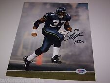 SHAUN ALEXANDER SEATTLE SEAHAWKS SIGNED 8x10 PHOTO PSA CERTIFIED AUTHENTIC