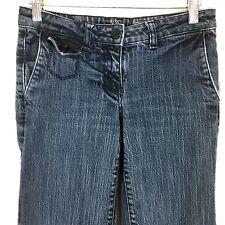 NYC Womens Jeans 2 Petite 2P Denim Low Rise Wide Leg Flare Trouser Stretch Pants
