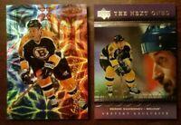 LOT OF 2 SERGEI SAMSONOV Inserts Topps Upper Deck NHL Boston Bruins Gretzky CS