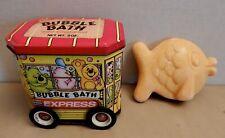 Bubble Bath Express TIN CAN CAR BUS Bank Toy Bear Fish shape SOAP Honeykins UK