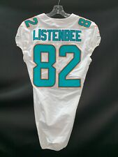 #82 KOLBY LISTENBEE MIAMI DOLPHINS TEAM ISSUED/GAME USED AUTHENTIC NIKE JERSEY