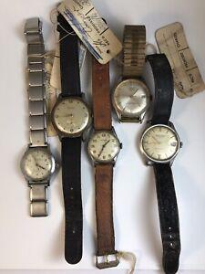 Vintage LOT Mens Wrist Watches Wiseman Zest Ramses Medana Ostara NOT working