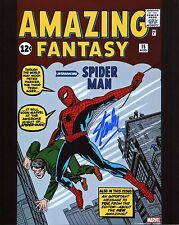 Stan Lee signed Amazing Fantasy 15 Photo Includes COA With Proof Marvel Comics