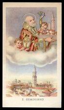 "santino-holy card""S.GEMINIANO DI MODENA"