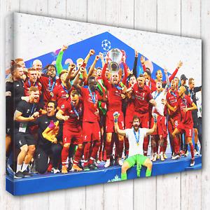 LFC Liverpool Premier League Champions 2019-2020 v2 5 Sizes Canvas Print Photo