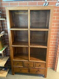 Antique Chinese Bookself With Drawers 3079