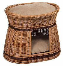 Wicker Cat House Bed with Cushions