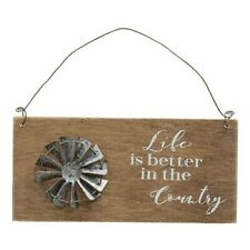 Life Is Better In The Country Windmill Sign Rustic Country Decor