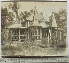 Faroe, Polonia, Casa des russ. Costruttore di strade, Foto 1917 (6362)