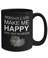 Persian Cat Coffee Mug - Persian Cats Make Me Happy, 15oz Black Coffee Tea Cup