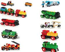 Brand New Wooden BRIO Battery Action Trains inc over 50 Brio train variations