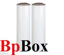 "90 Gauge Stretch Film Rolls Shrink Wrap Packaging 18"" X 1000' 2 Clear White"