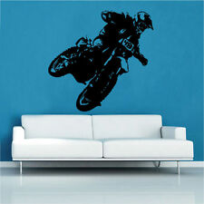 Motorcycle Decal Vinyl Wall Sticker Motorbike bike Boys room Classic