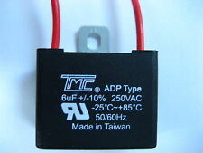 CAPACITOR 6MFD, 6 mfd, 6uF, 250VAC ADP type TRUE VOLTAGE