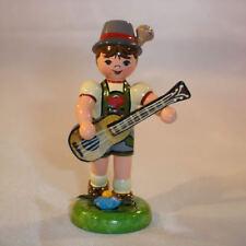 Musikkind Junge mit Gitarre, Miniaturen von Hubrig Erzgebirge 308h1000