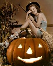 """ANNE NAGEL HALLOWEEN AMERICAN  ACTRESS 8x10"""" HAND COLOR TINTED PHOTOGRAPH"""