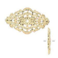 8526FX Charm Filigree, Link, Component, Centerpiece, 59x35mm, oval, 6 Qty
