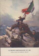 VI Gruppo Battaglioni CC.  NN.  AMBA ALAGI 28 Febbraio 1936, XIV, non viaggiata.