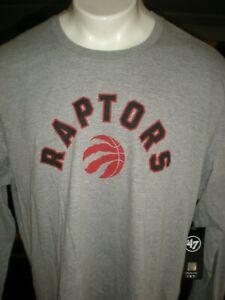 TORONTO RAPTORS NBA L/S GREY T-SHIRT SZ: XXL 2X 2XL NWT