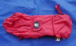"FabDog ""Pack-away Raincoat "" RED Size S 100% Goes to No-Kill Animal Rescue NEW"