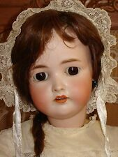 """RARE Antique German #136/9 Bisque Doll 24"""" Jointed Compo Body"""