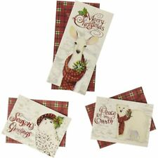Snowy Friends Card Trio Set Boxed Holiday Cards
