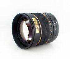 Rokinon 85mm F1.4 Aspherical Lens for Canon EOS Digital SLR -85M-C - Gold Ring