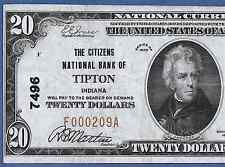 IN 1929 $20    ♚♚ TIPTON, INDIANA ♚♚