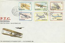 1978 Rhodesia Aviation Unaddressed First Day Cover Salisbury PMK Ref: MT200