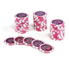 50-POKER CHIPS Valeur 1 Gris laserchip 12 G metallkern jetons pour Poker valise