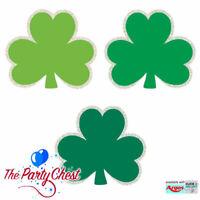 50 MINI GLITTER SHAMROCK CUTOUTS St Patricks Day Green Irish Party Decorations