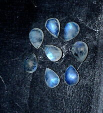 11.60 Ct Natural Rainbow Moonstone Gemstone 7X9.5mm Pear Faceted Cut Lot S705